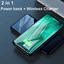 10000mAh Qi Wireless Charger Power Bank For Xiaomi Mi 9 iPhone Slim Poverbank External Battery Fast Wireless Charging Powerbank(China)