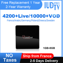 Europe IPTV Leadcool X Smart Android Tv Box IUDTV IPTV Subscription UK Spain Sweden IPTV Italy Germany Arabic Greece India IP TV