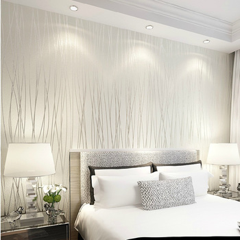 Solid color Vertical Stripe Non Woven 3D wallpaper High Quality modern wall paper for bedroom