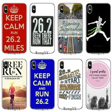 สำหรับ Huawei P30 P20 P10 P9 P8 Pro Lite P Smart PLUS 2019 Run Marathon 26.2 คำคมซิลิโคน TPU Soft Case(China)