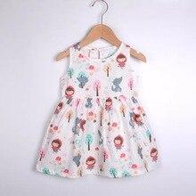 2020 1г-4Г милый жилет хлопок младенческой девочка платье хлопок без рукавов-линии платья свободного покроя мини Принцесса одежда