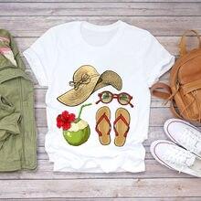 Женская летняя футболка с принтом ананаса и фруктов 90s camisas