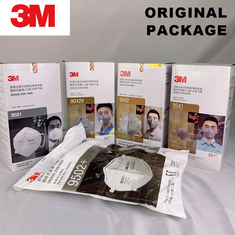 Original Package 3M Mask Respirator Masks Anti-Dust Organic Vapor Particle PM2.5 Protect Disposable Face Mouth Safety Mask