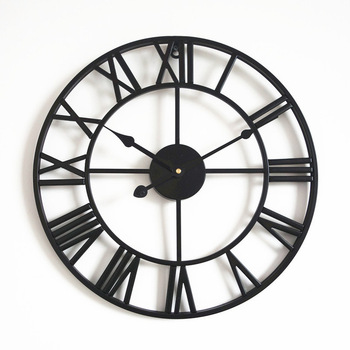 2020 Creative Wall Clock Modern Design For Home Office Decorative Hanging Living Room Classic Brief Metal Wall Watch 12