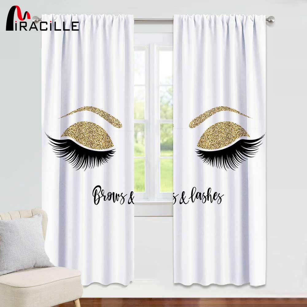 Miracill Wimpers 3D Afdrukken Gordijnen Moderne Woonkamer Decoratie Shading Gordijn voor Meisje Slaapkamer Home Decor