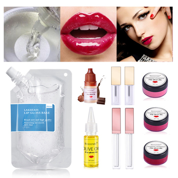 DIY Clear Lip Gloss Base Oil Set Non-Stick Moisturizing Lipstick Material Gel Lip Gloss Base Pigment Powder DIy Tools