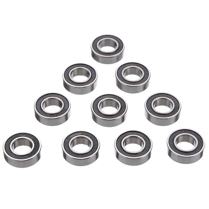 MR117-2RS Rubber Sealed Ball Bearings Bearing MR117RS BLACK 5 Pcs 7x11x3 mm