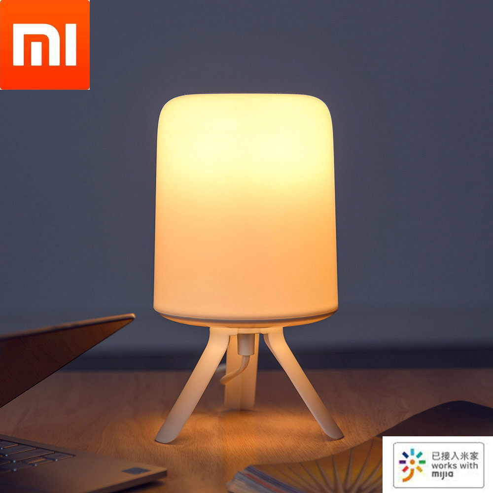 Xiaomi Youpin Smart Home Bedside Lamp Minimalist Hazy Design Exquisite And Small Colorful Atmosphere Light Work With Mijia App|Night Lights| - AliExpress