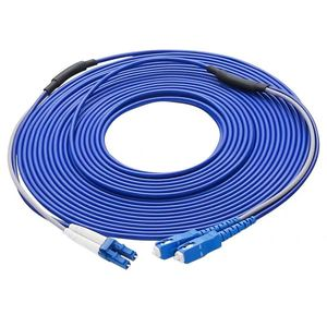 Image 4 - SC/UPC to LC/UPC Armored Fiber Patch Cable Duplex Single Mode Armored optical Patch cord