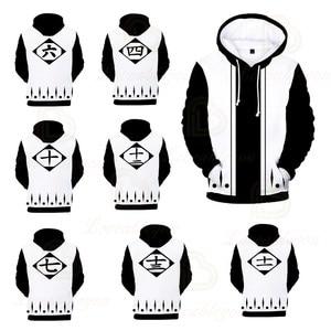 Anime Bleach Fashion 3D Color Printing Spring Autumn Hooded Sweatshirt Men Women Cosplay Hooded Hoodies