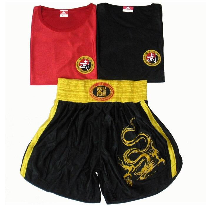 【Xiu】 Crafts Long Clothing Set Boxing Training Suit Shorts Sanda Clothes Boxing Muay Thai Is Martial Arts Children Men And Women