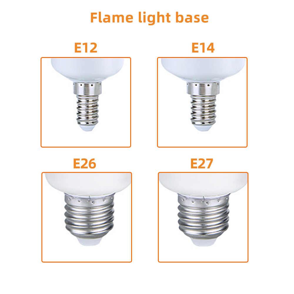 E27 เปลวไฟหลอดไฟLEDแบบไดนามิกผลเปลวไฟไฟหลอดไฟข้าวโพดหลอดไฟสร้างสรรค์ริบหรี่Emulationตกแต่งLEDโคมไฟโคมไฟ