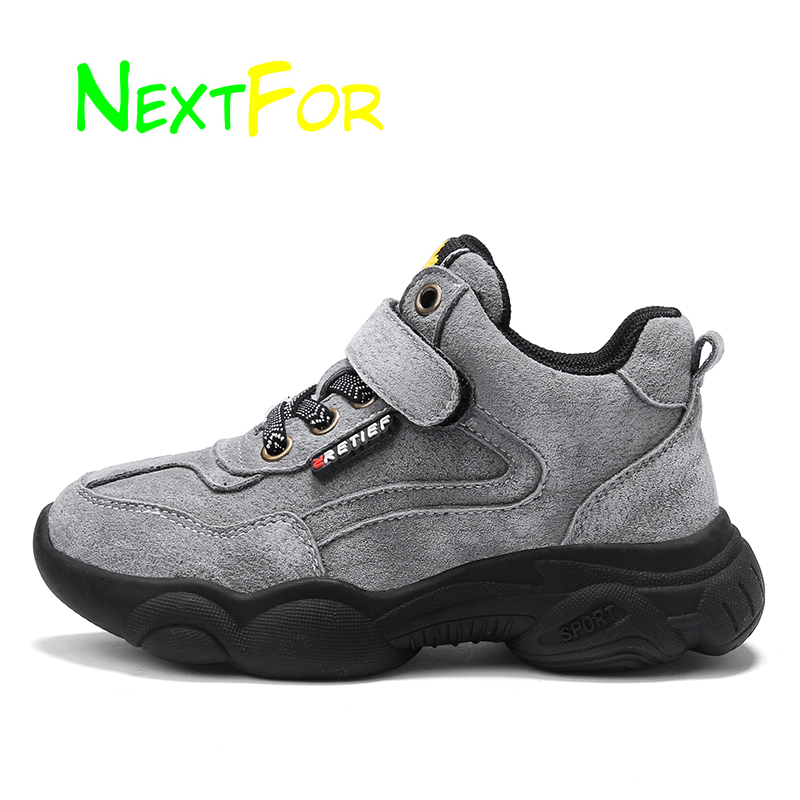 Genuine Leather Kids Casual Shoes Boys Children Walking Sneakers Autumn Winter Sport Sneakers Kids Footwears Anti Slip Shoes
