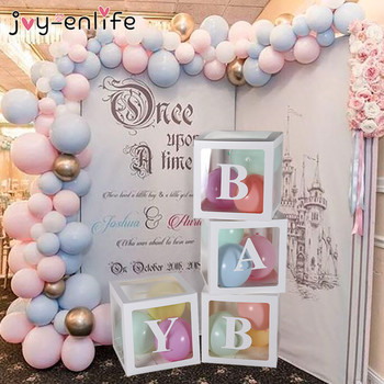Baby Shower Decorations Transparent Box Name Letter Box Babyshower Gift Box Girl Boy 2nd 1st One Birthday Party balloons Decor брюки 2nd one 2nd one nd001ewcvrb1