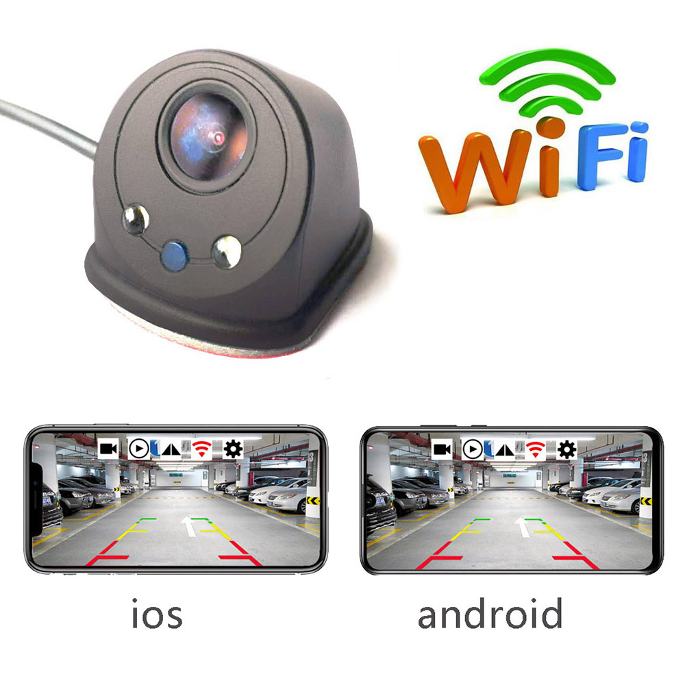 Wireless Car Rear View Camera WIFI Reversing Dash Cam USB Mini Waterproof Auto Blind Spot Left And Right Side View Camera