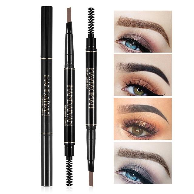 Eyebrow Pencil 2 in 1 Auto Waterproof Eye Makeup Brow Shades Brush Maquillaje Sombrancelha Long Lasting Eyebrow Pencil 1