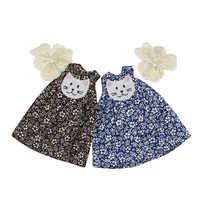 Glück Tage DBS 1/6 puppe Kleidung Nette floral kätzchen mit kopfschmuck für 30cm puppe geschenk spielzeug