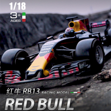 Burago 1:18 RED BULL-RB13 Alloy F1 car model die-casting model car simulation car decoration collection gift toy