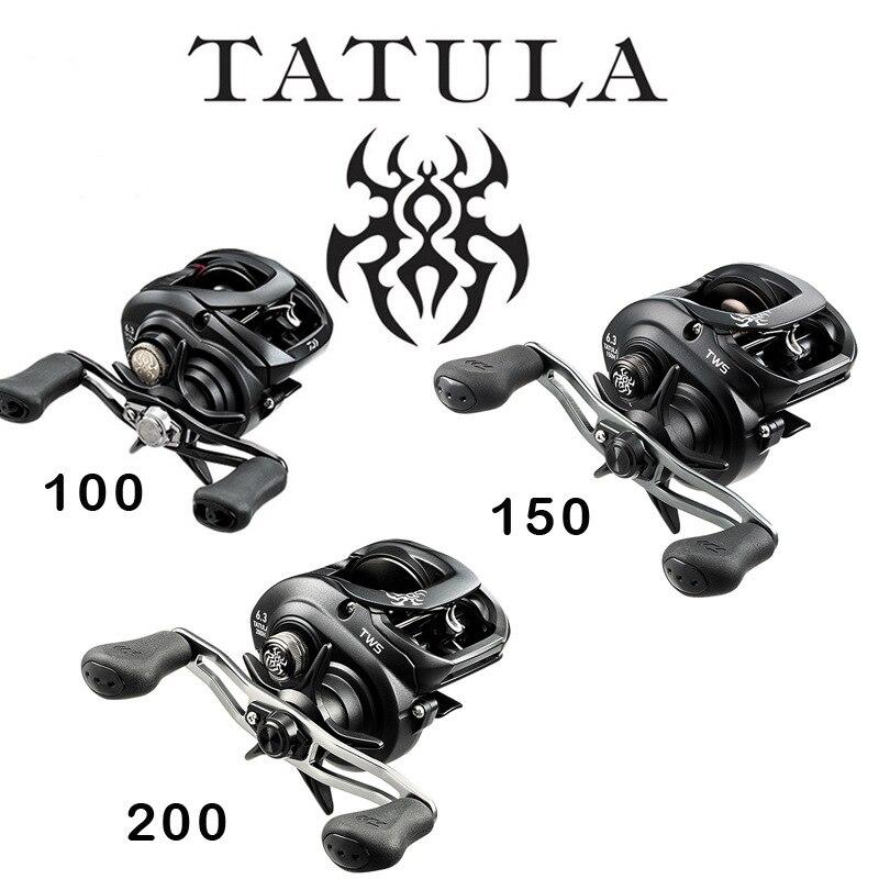 Оригинал 2019 DAIWA TATULA 100 150 200 Низкопрофильная катушка для заброса приманки 7BB + 1RB