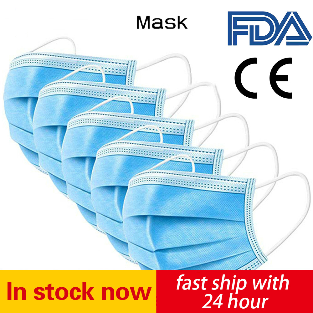 200 PCS Disposable Mask Health Care Mask Disposable Earloop Face Mouth Masks 3 Layers Anti-Dust Mask Safe Breathable Mouth Mask