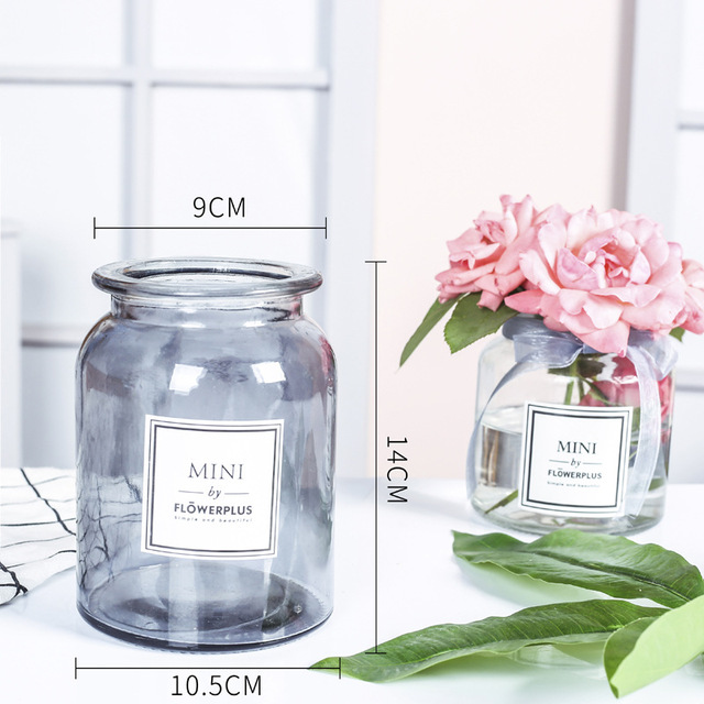 Modern Creative Glass Vase Ornaments Home Furnishing Crafts Office Table Bouquets Flower Pot Wedding Decoration 5