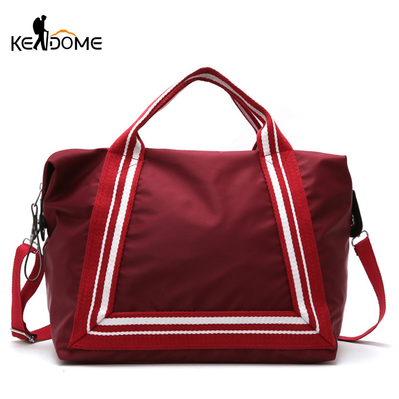 Women Sport Training Gym Fitness Travel Bags Durable Waterproof Nylon Outdoor Sports Handbag Shoulder Tote For Female XA941WD