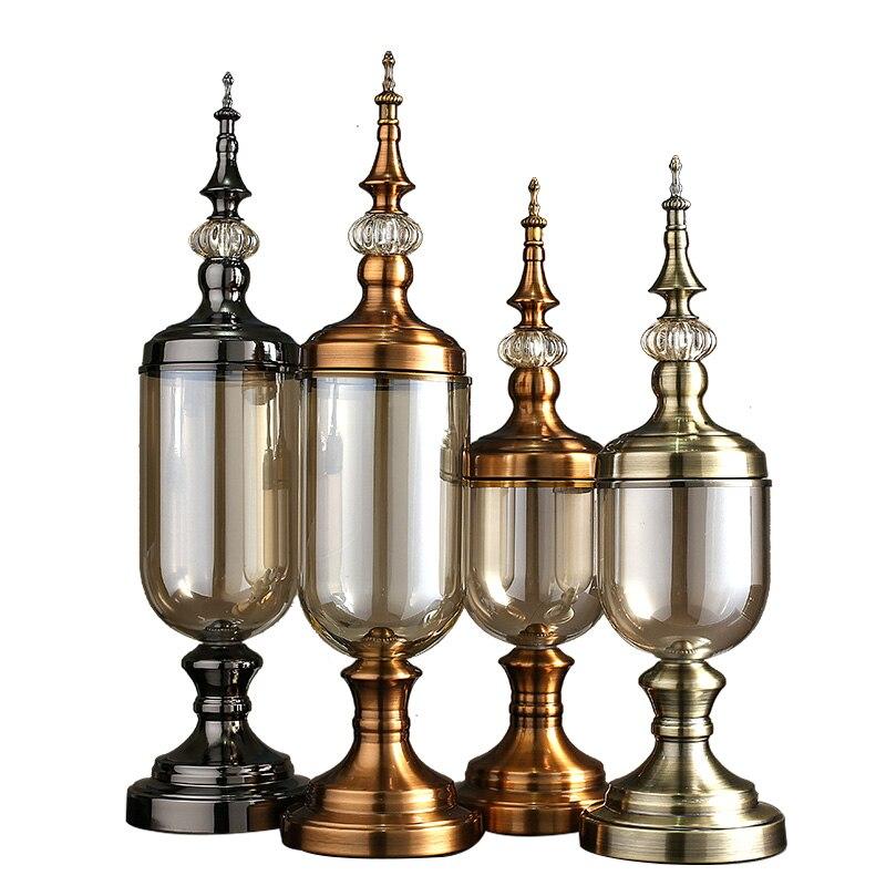 Европейские стеклянные бутылки Креативные украшения дома Современные наборы свадебные террариумные миниатюры цветы вазы растения фигурк