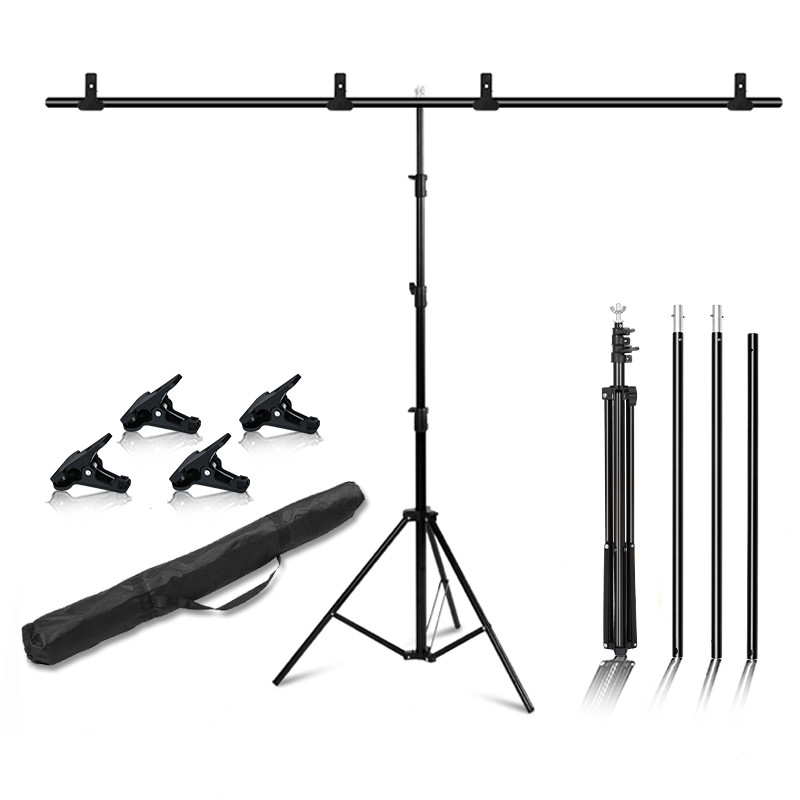 Photography T-Shape Background Frame Photo Backdrop Stands Support System Stands With Bag Clamps For Photo Studio Multiple Sizes