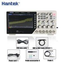 Hantek dso4254c osciloscópio de armazenamento digital 4ch 250mhz 1gs/s benchtop osciloscopio 25mhz função/gerador de sinal arbitrário