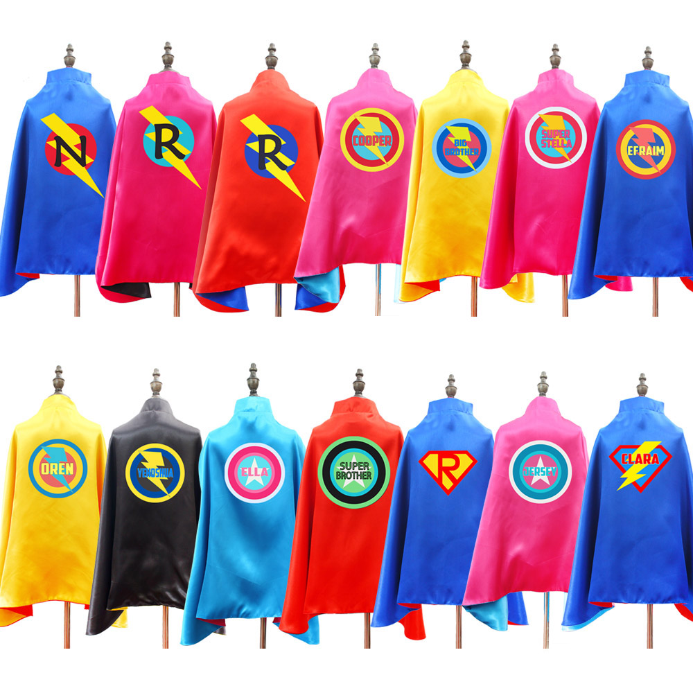 Personalized Superhero Capes For Kids Reversible Superhero Capes Birthday Party