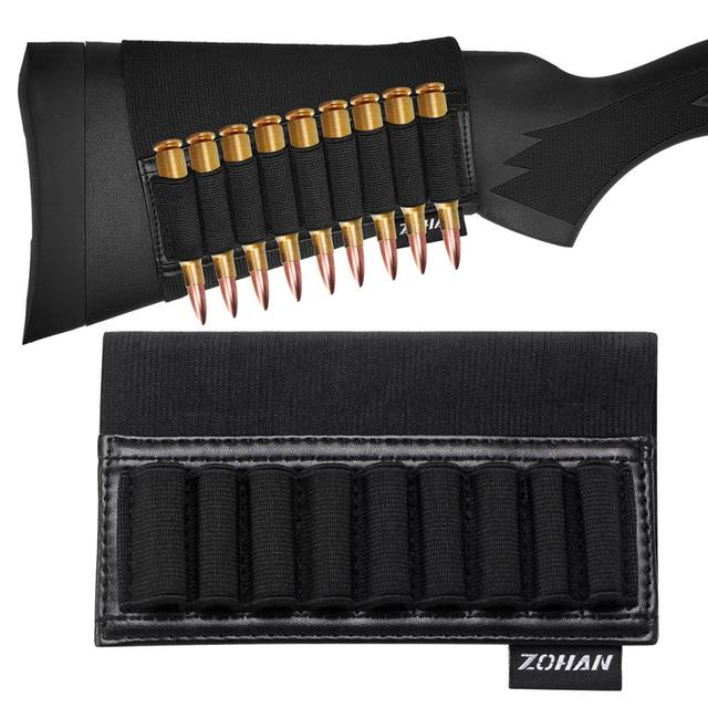 ZOHAN 9 Rounds Tactical Rifle Buttstock Shell Holder Stock Cartridge Holder Ammo Carrier Bullet Pouch Hunting Accessory 3