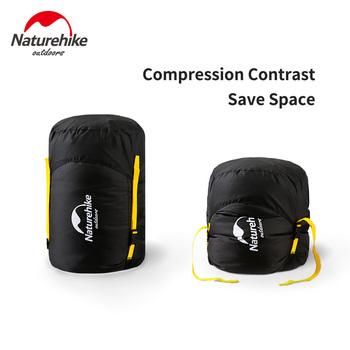 NatureHike Portable trwała torba do przechowywania na biwaku worki na rzeczy do śpiwora przechowywanie odzieży worek kompesyjny Save Space tanie i dobre opinie sleeping bag storage sack camping equipment
