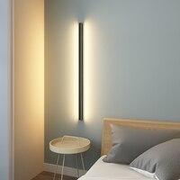 북유럽 미니멀리스트 긴 벽 램프 현대 led 벽 조명 실내 거실 침실 led 침대 옆 램프 홈 장식 조명기구