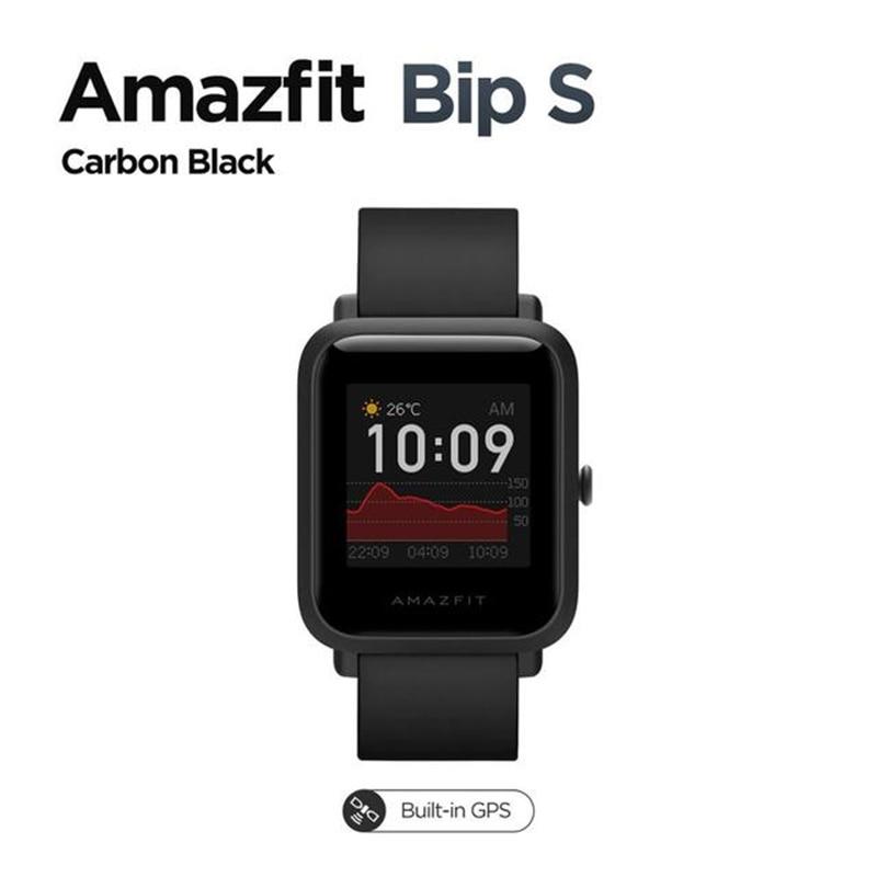 In Stock 2021 Original Global Amazfit Bip S Smartwatch 5ATM waterproof built in GPS GLONASS Smart Watch for Android iOS Phone