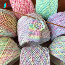 Macaron Color Doll Little Baby Sweater Scarf Bag Headband Decorate Diy Crafts Material Gradient Color Knitting Thread S0801L(China)
