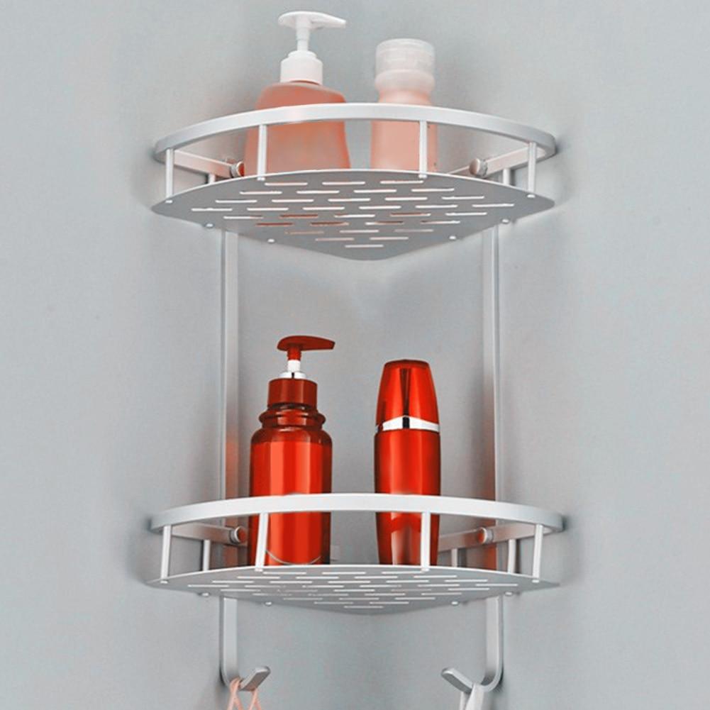 Esquina de jabón triángulo ahorro de espacio taladro libre de aluminio de fácil instalación bandeja para champú almacenamiento montado en la pared estante de baño|Soportes y estanterías de almacenamiento| - AliExpress