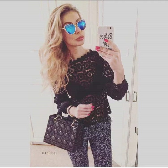 Women's wear 2021 Spring Autumn Good quality lace shirt female long sleeve foreign style inside top and bottom coat 2