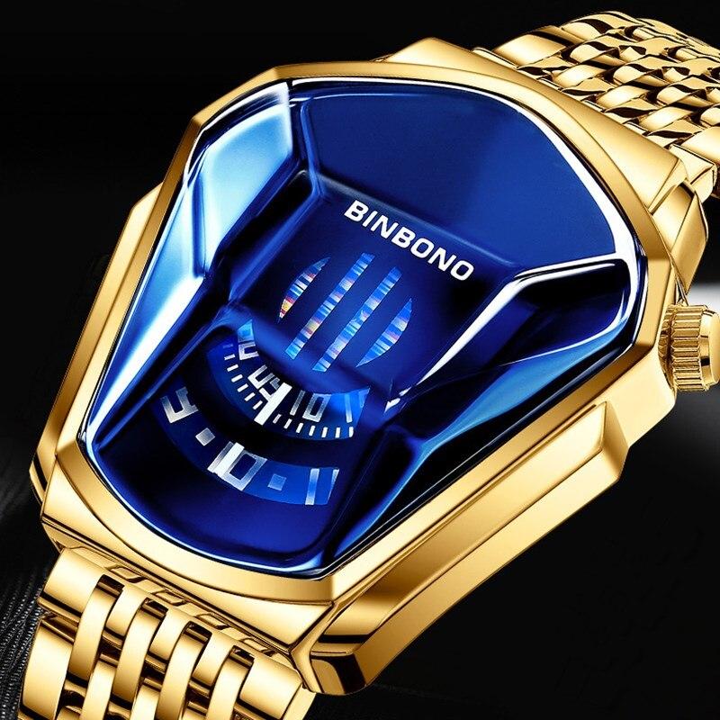 2020 New Luxury Fashion Trend Sports Men's Watch Casual Steel Band Black Technology Watch Milano Waterproof Quartz Watches Male