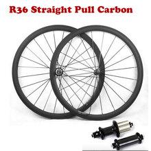 Super Light Carbon Road Bike Wheelset 700C 38/50/60/88mm with Straight Pull R36 Carbon Hub Basalt Brake Surface Bicycle Wheels