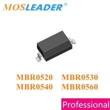 Mosleader 3000PCS MBR0520 MBR0530 MBR0540 MBR0560 SOD123 MBR0520LT1G MBR0530LT1G MBR0540LT1G MBR0560LT1G 1206 Chinese Schottky