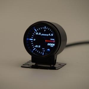 """Image 3 - Светодиодный турбонаддув для автомобиля, 2 """"52 мм, 7 цветов, с датчиком и держателем, светодиодный, для автомобиля"""