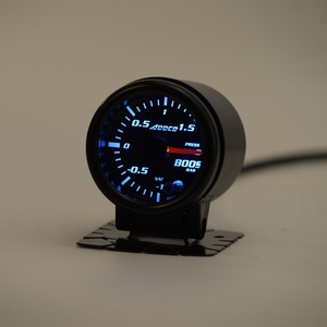 """Image 3 - 2"""" 52mm 7 Color LED Smoke Face Car Auto Bar Turbo Boost Gauge Meter With Sensor and Holder AD GA52BOOSTBAR"""