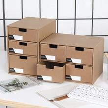 Paper drawer storage box desk creative document sorting rack simple bookstand magazine file organizer