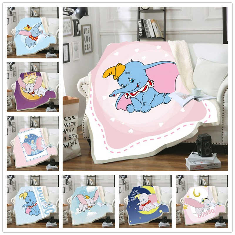 cama individual para ni/ños y ni/ñas LDYJ Disney Dumbo Manta de franela para beb/é y adulto manta de felpa para sof/á o cama