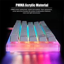 Womier Gamakay K66 tuşları çalışırken değiştirilebilir mekanik oyun klavyesi Tyce C kablolu RGB arkadan aydınlatmalı Gateron anahtarı kristal taban