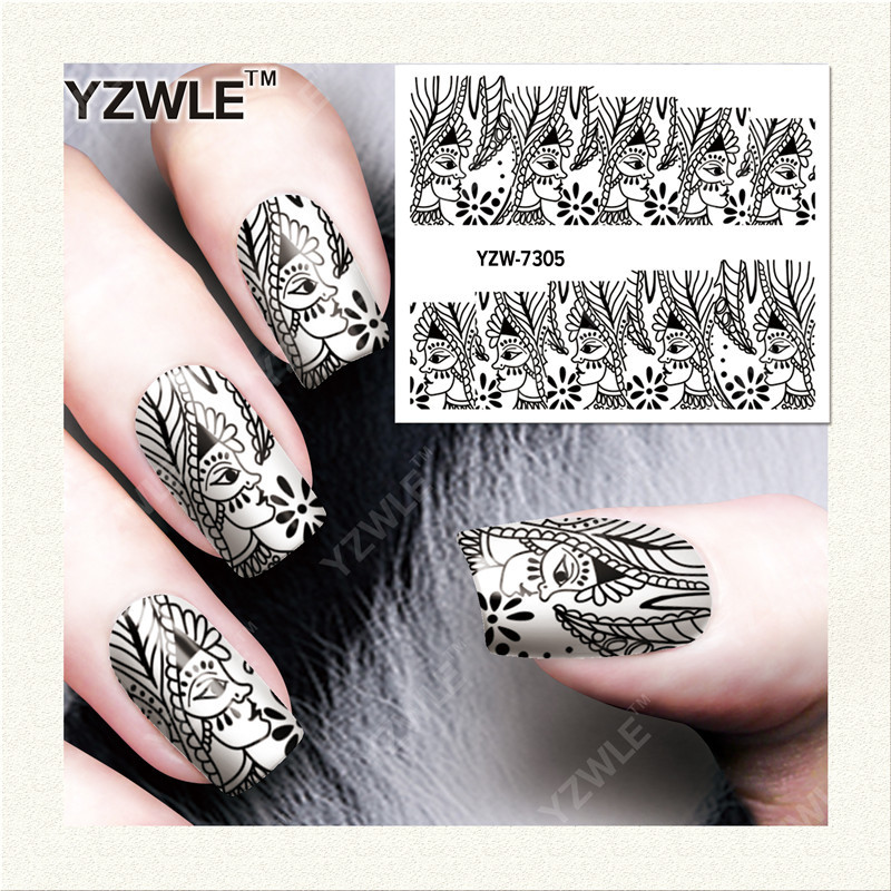 Watermarking Manicure Adhesive Paper Lasting Ultra-Thin Flower Stickers 3D Flower Stickers Manicure Jewelry Yzw7305