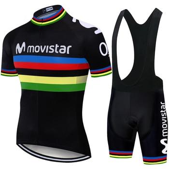 Movistar-Maillot de Ciclismo personalizado para hombre, traje deportivo masculino de verano, 6xl,...