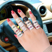 LARRAURI Trendy Monaco Designer Cubic Zircon Engagement Rings For Women Wedding Dubai Stackable Bridal Finger Rings Jewelry цена и фото