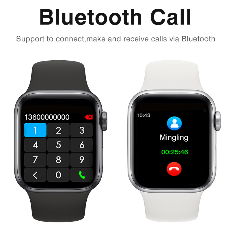 Bluetooth Call Answering Smartwatch Men Big Screen Smart Watch Women Smart Bracelet Fitness Band Fitness Watch Heart Android IOS