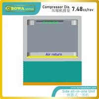 A unidade refrigerando tudo-em-um lateral fornece soluítons refrigerando perfeitos completos para estações base  salas do servidor das telecomunicações ou câmaras de ar
